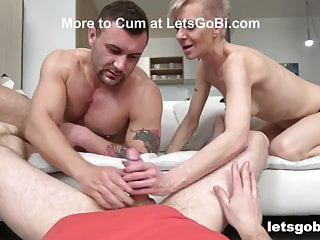 Three cocks in one hole